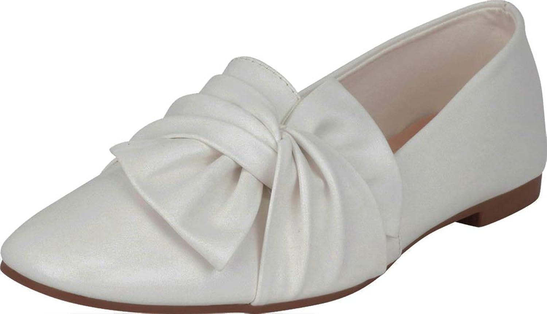 Cambridge Select Women's Round Toe Twist Knot Slip-On Flat Loafer