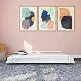 DHP Metal Trundle for Daybed Frame, FIts Twin Size, White