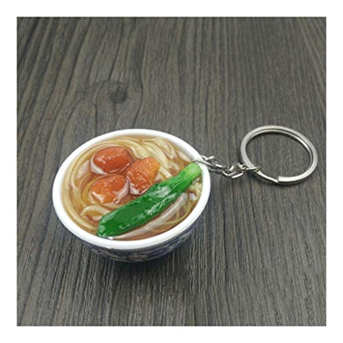 Keychains for Keys Keychain Set 3D Simulation Pendant Keychain, Key Ring for Kids Girls Women Bag Decorations Gift Birthday Party Supplies Events Gift Keychains Rings (Color : Beef Noodle)