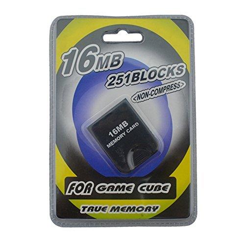 Link-e - Tarjeta de memoria 16mb (251 blocks, memoria no comprimida) para salvaguardia sobre consola Nintendo Gamecube