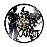 Reloj de Vinilo de Karate, decoración del hogar, Reloj Creativo, Regalo Hecho a Mano para Karateka