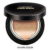 Pretty Comy Cojín BB Cream para hombres Hidratante repelente al agua Cubre imperfecciones, transparente e impecable, Maquillaje Base cosmética