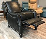 BarcaLounger Ashton ll Leather Wing Recliner Color: Pearlized Black