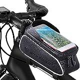 Landrip Bolsas para Cuadro de Bicicleta Impermeable con Bufanda de Ciclismo Multifuncional Bolsa para Bicicleta, Adecuada para teléfonos Inteligentes de Menos de 6 Pulgadas