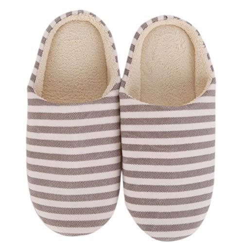 Hausschuhe aus weicher Sohle aus Baumwolle, Familienschuhe, rutschfeste Schuhe für den Innenbereich thumbnail