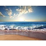 Wee Blue Coo Photograph Seascape Beach Sand Ocean Surf