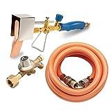 CFH Set Cuivre propane Fer à souder pour tuyau en plastique et régulateur de propane Soudure Fer...