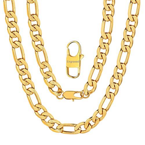Cadenas Personalizables Oro Hombres Collares Acero Inoxidable 316L Estilo Hip Hop 9mm Eslabones Redondos Anchos 18 Inch Joyerías Modernas para Cumpleaños