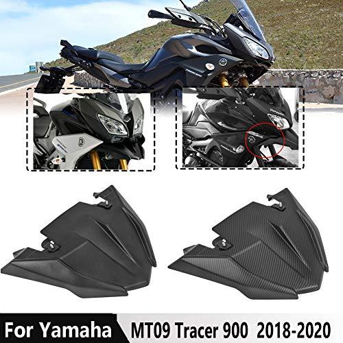 LoraBaber Für Yamaha MT09 Tracer Vorderrad Kotflügel Schnabel Nase Kegel Verlängerungsabdeckung Verlängerungshaube 2018-2020 MT 09 Tracer 900 Tracer 900 GT FJ 09 Zubehör 2019 (Kohlefaser-Look)