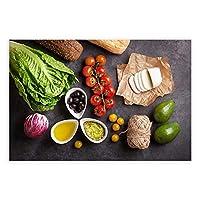 北欧新鮮な食品ポスター野菜調味料壁アートパネルおいしい食品キャンバス絵画インテリアパン写真モダン版画レストランキッチンダイニング部屋装飾画