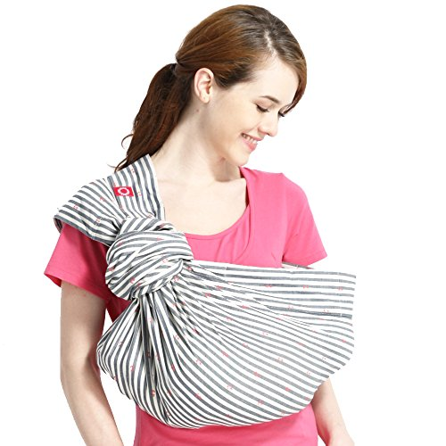 Mamaway Ring Sling Baby Wrap Carrier for Infant, Newborn, Toddler, Nursing Cover, Breastfeeding...