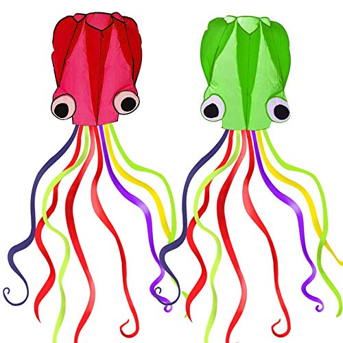 Ynanimery Large Kite|2 Pack Octopus Kites for Kids