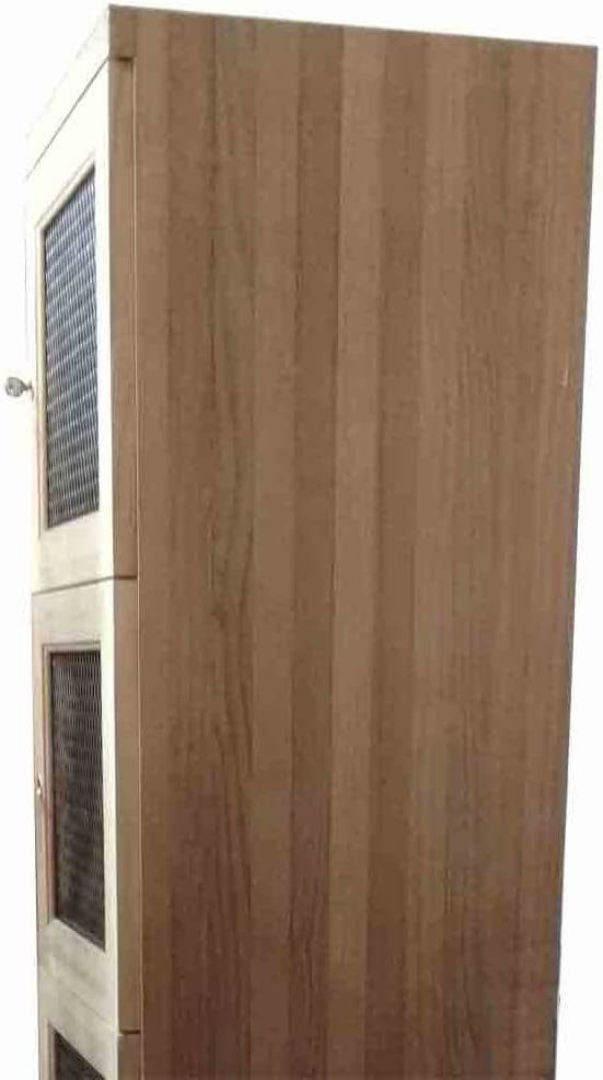 Solid Side Panel for El Paso Mall Two Levels Seattle Mall Locker Right - Pine Wine with