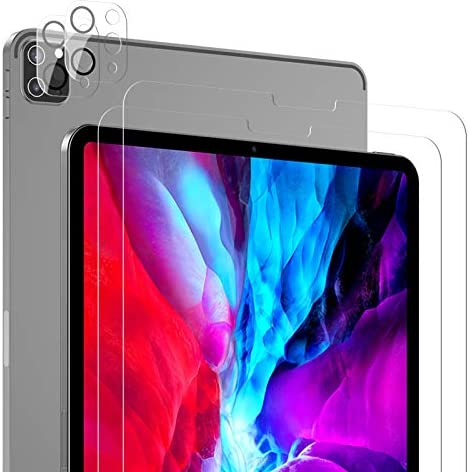2 Pack SPARIN Screen Protector Compatible with iPad Pro 12 9 with 2 Pack Camera Lens Protector product image