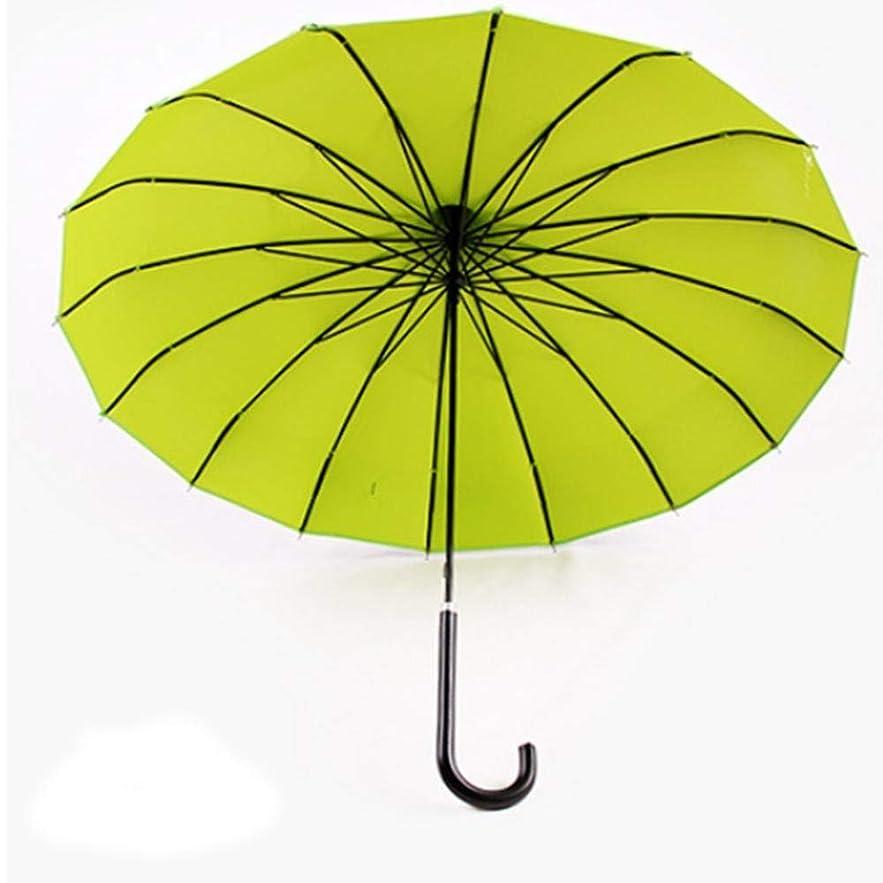 フットボール均等に不良Chuangshengnet 傘パゴダロングハンドルビニールUV保護 (Color : 緑)