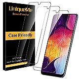 UniqueMe [3 Pack] Protector de Pantalla para Samsung Galaxy A50 / Galaxy M31, Vidrio Templado [ 9H Dureza ] [Sin Burbujas] HD Film Cristal Templado para Samsung Galaxy A50 / Galaxy M31