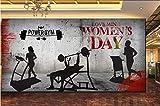 Afashiony Papier Peint Panoramique 3D Mur Papier Peint Muraux Photo Retro Déco Mural Tableaux Tapis De Course Tapis De Musculation Fond De Mur De Musculation-300Cmx210Cm