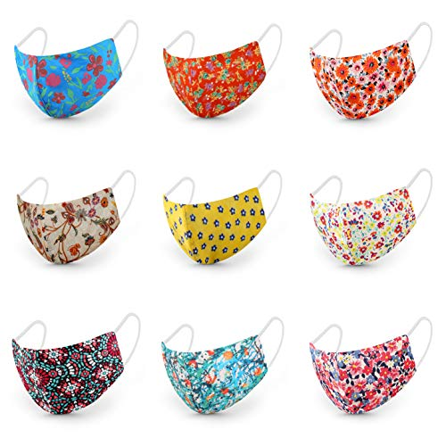 CHUNKY CHUCKLES Set of 5 (3 layer & Nosepin) Cotton Cloth Printed...