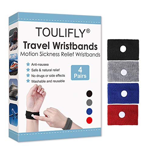 Travel Wristbands,Travel Motion Sickness Relief Wrist Band,Natural Nausea Relief