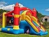 BeBoP Ultimate Combo Large Castillo Inflable para niños y tobogán