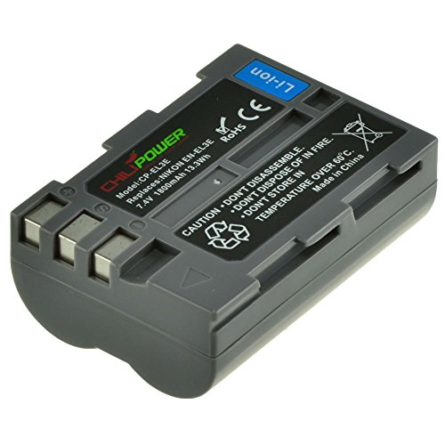 Chili Power EN-EL3e Batería para Nikon D90, D700, D300, D80, D70, D50, D200, D300s, D100, D70s
