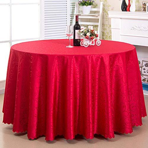 Yinaa Manteles Mesa Antimanchas Piezas de Colore Color Brillante Duradero Nórdico Moderno para Cocina Comedor Diámetro del Círculo Rojo 320cm