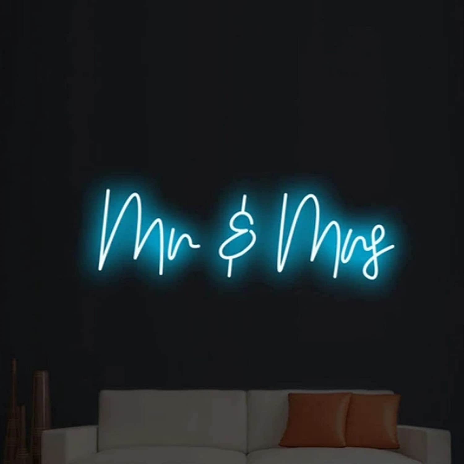 Custom Neon Light Sign MrMrs for Holiday Lights Free Shipping New Room mart Wall