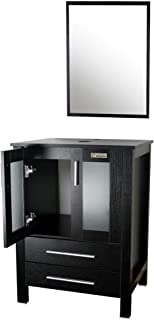black bathroom vanity