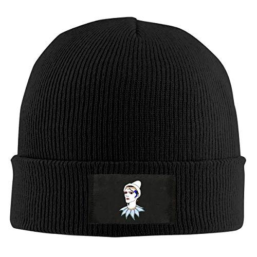Bowie Pierrot Unisex Retro Beanie Hat Knitted Soft Cap