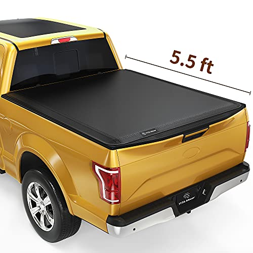 YITAMOTOR Soft Tri-Fold Truck Bed Tonneau Cover Compatible with 2015-2021 Ford F-150, Styleside 5.5 ft bed