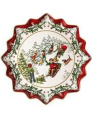 Villeroy & Boch Toys Fantasy-Plato Hondo para repostería, Porcelain Premium, Blanco, 39 x 39 x 3,5 cm