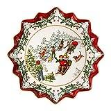 Villeroy & Boch Toy's Fantasy Piatto da Pasticceria Profondo Slitta, Porcellana, Multicolore, 39 x 39 x 3,5 cm