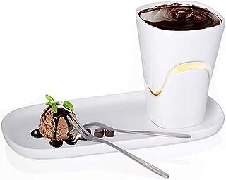 FU LIAN Mini Set de Fondue de Chocolate, Olla para Fondue Hightea, cocción a Alta Temperatura 120 ml de Gran Capacidad Hecha a Mano, Adecuada para Helado de Queso y Otros postres