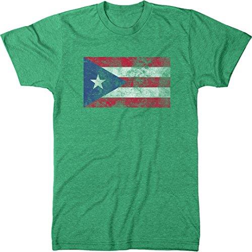 Distressed Puerto Rico Flag Men's Modern Fit T-Shirt