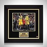 RARE-T Lebron James & Anthony Davis Los Angeles Lakers Photo Limited Signature Edition Studio Licensed Custom Frame - Gold