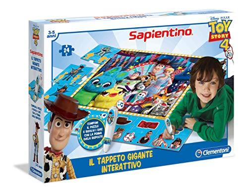 Clementoni- Sapientino géant interactif Disney Toy Story 4 Tapis Puzzle, 16234, Multicolore