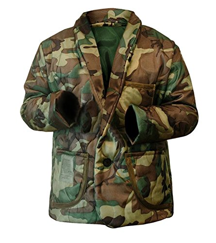 NM Fashions Men's Woobie Bomber Camouflage Style Smooking Line Cotton Jacket