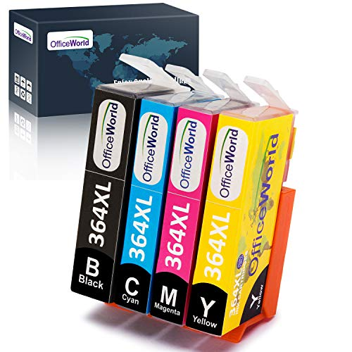 OfficeWorld Reemplazo HP 364 364XL cartuchos tinta