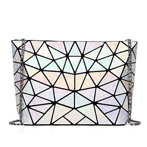 Mochila lío triángulo geometría del agua cadena rómbica bolsa plegable inclinada diagonal bolsa de dama mochila fresca con mochila mochila para mujer moda multifunción mochila láser