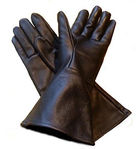Leather Mystics Leder Stulpenhandschuhe schwarz Medium