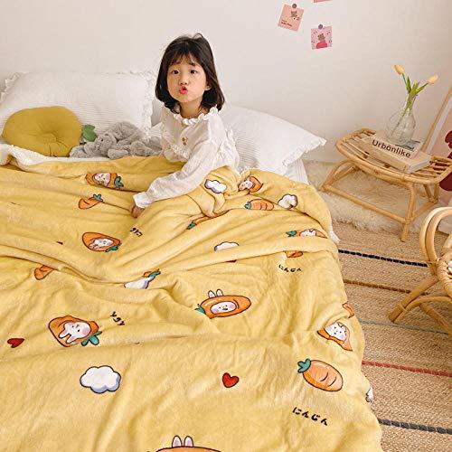 Amosiwallart Manta - Muchos tamaños y Colores Diferentes - Manta de Microfibra Manta para Sala de Estar Manta para Cama - Fibra Polar de Microfibra de Franela -Conejito de rábano_150x200cm