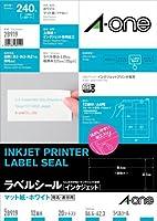 エーワン インクジェットプリンタラベル12面 28919 00030016【まとめ買い3パックセット】