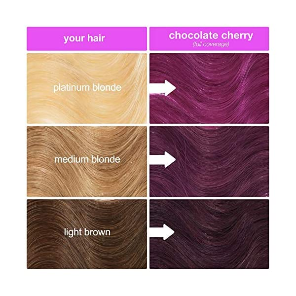 Lime Crime Unicorn Hair Dye, Chocolate Cherry - Deep Burgundy Red Hair Color - Full Coverage, Ultra-Conditioning, Semi… 8