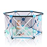 Arkmiido Baby playpen, Playpen for Baby Foldable and Portable, Hexagonal Folding Playpen