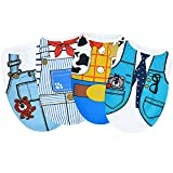 Sebaoyu Set of 4 Male Female Dog Clothes Outfits Puppy Shirts for Small Dogs Boy Girl - Torkie Chihuahua French Bulldog Clothes - Pet Dog Clothing (M)