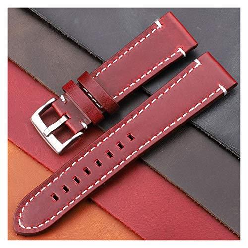 Correa Reloj Cintas de Relojes de Cuero Genuino de la Vendimia 7 Colores cinturón 18 mm 20 mm 22 mm 24 mm Mujeres Hombres Reloj de Reloj Correa de Banda Accesorios Correa Reloj Inteligente