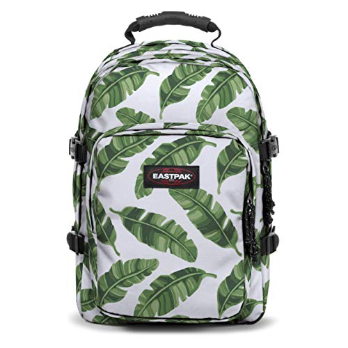 Eastpak Provider Zaino, 44 cm, 33 L, Bianco (Brize Leaves Natural)