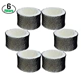 IOppWin 6 Pack Air Humidifier Filters Replacement for''A'' Holmes Filters, Compare to Part # HWF62, HWF62D,Compatible with Sunbeam Cool Mist Humidifiers SCM1100, SCM1701, SCM1702, SCM1762, SCM2409