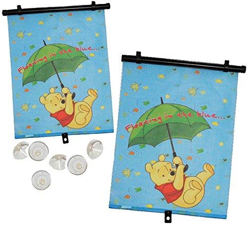 alles-meine.de GmbH 2 TLG. Set: Sonnenschutz - Rollo /  Disney - Winnie The Pooh  - für Fenster und Auto - Seitenscheibe / Sonnenblende Kinder - Sonnenrollo Fensterschutz Rollo..