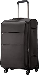 Cooralledtooere Luggage Nylon Suitcase Lightweight Carry-on Hand Luggage,Business Travel Trolley,Lightweight 4 Wheel Trave...